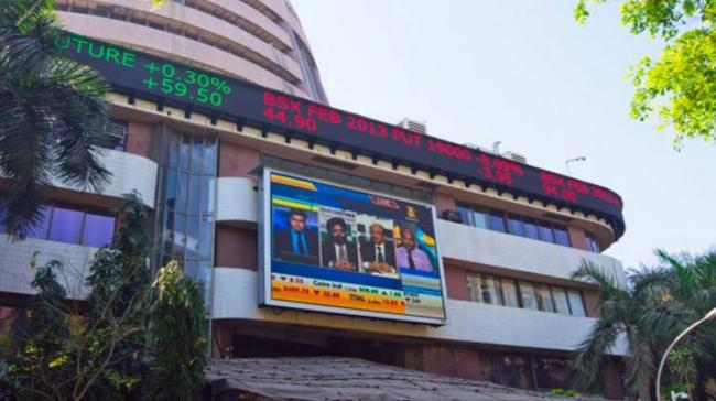 The barometer 30-scrip Sensitive Index (Sensex) of the BSE, which had opened at 35,083.81 points, traded at 35,029.45 points - Sakshi Post