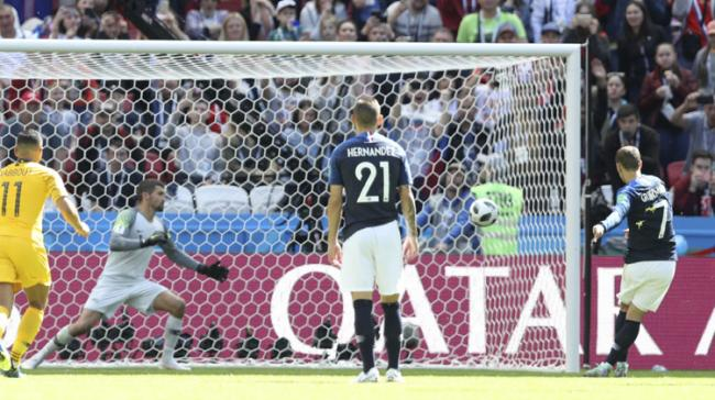 Frances Antoine Griezmann scores the opening goal from the penalty  - Sakshi Post