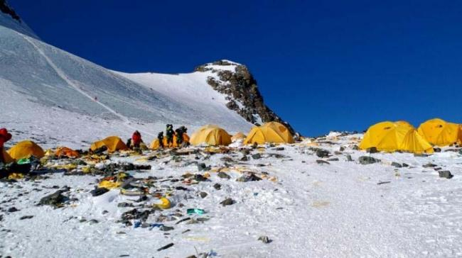 In 2017 climbers in Nepal brought down nearly 25 tonnes of trash, 15 tonnes of human waste-- equivalent of 3 double-decker buses. - Sakshi Post