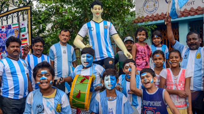Fans of Argentina football team celebrate and cheer for their favourite team  ahead of their match against Croatia - Sakshi Post