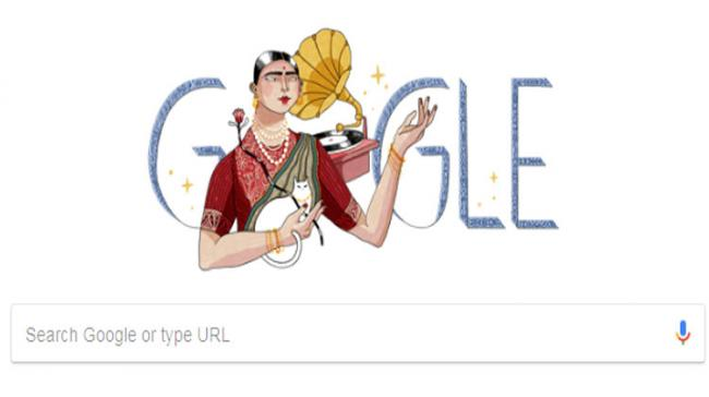 Gauhar Jaan's 145th birth anniversary has been marked by search engine giant Google through a doodle - Sakshi Post