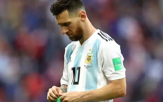 Lionel Messi's Argentina crashed out of World Cup 2018 after losing to France in the Round of 16. - Sakshi Post