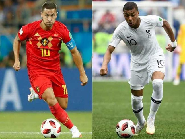 Eden Hazard will be key for Belgium while France will pin their hopes on Kylian Mbappe. - Sakshi Post