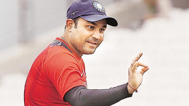 Indian cricketing legend Virender Sehwag - Sakshi Post