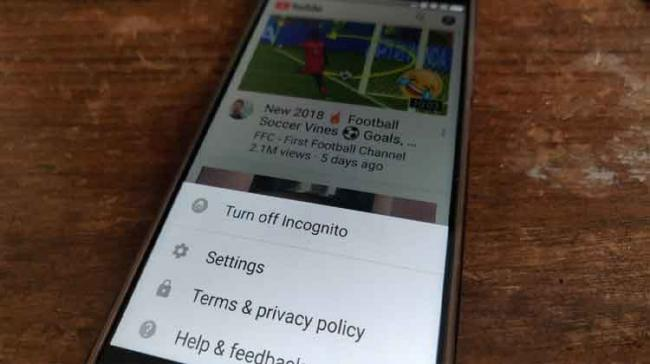The Turn on Incognito button would be visible at the bottom of the account page - Sakshi Post