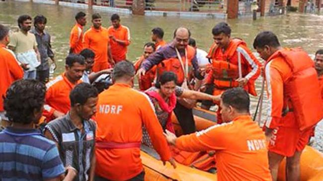 Nearly 100 teams comprising about 4,500 personnel of the National Disaster Response Force (NDRF) have been deployed in 71 locations - Sakshi Post