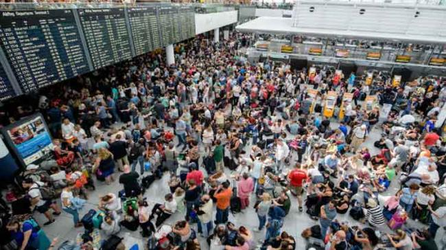 Several thousand people at the airport on a busy weekend of holiday departures had to be evacuated - Sakshi Post
