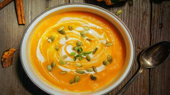 Curried carrot & pumpkin soup with coconut milk  - Sakshi Post