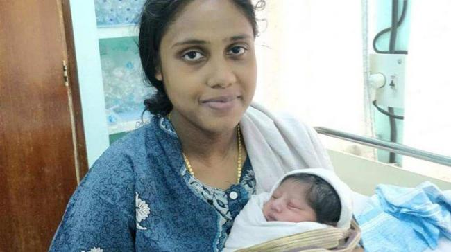 A pregnant woman stranded in one of the worst flood-hit areas of Kerala had developed complications with a ruptured amniotic sac - Sakshi Post
