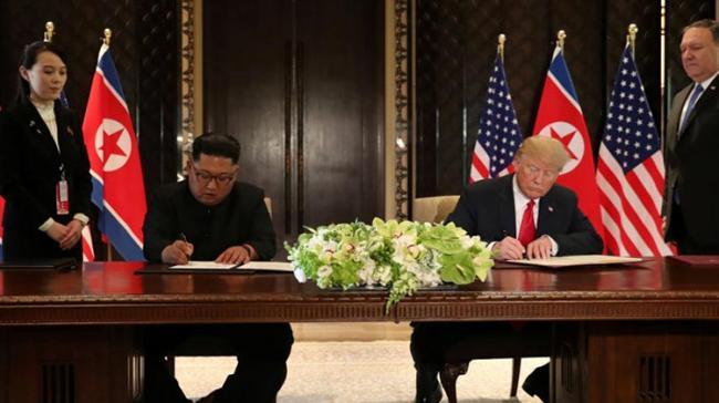 Donald Trump and Kim Jong Un held a historic summit in Singapore in June. (File) - Sakshi Post