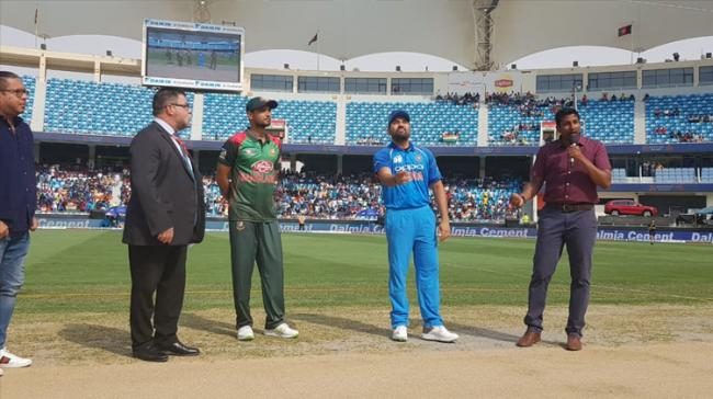 India won the toss and opted to bowl in their Super Four Asia Cup match against Bangladesh here Friday. - Sakshi Post