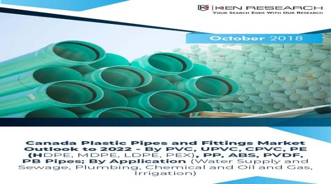 """The report titled """"Canada Plastic Pipes and Fitting Market Outlook to 2022 - By PVC, UPVC, CPVC, PE (HDPE, MDPE, LDPE, PEX), PP, ABS, PVDF, PB Pipes. - Sakshi Post"""