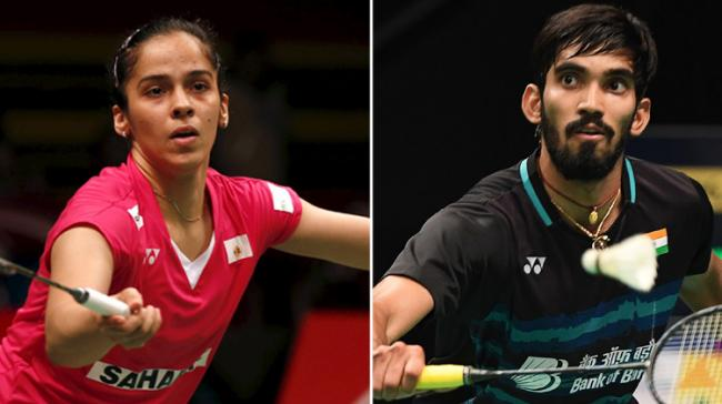 India's Saina Nehwal and Kidmabi Srikanth stormed into the semifinals of the Denmark Open - Sakshi Post