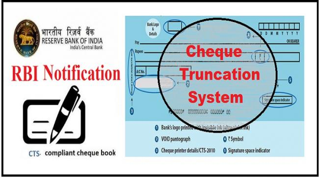 RBI Notification on non-CTS Cheque - Sakshi Post