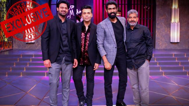 As you all know Baahubali director SS Rajamouli, Prabhas and Rana Daggubati were invited to be on the most popular Television talk show Koffee with Karan - Sakshi Post