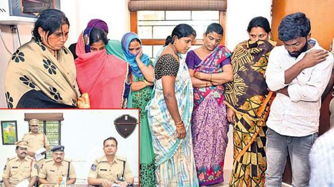 The Chaitanyapuri police arrested a couple and six members involved in a prostitution racket. - Sakshi Post