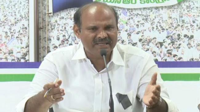K Parthasarathi,Addressing a press Conference here at the party office - Sakshi Post