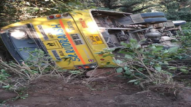 Bus Carrying Children To PM's Dharamsala Rally Overturns, Students Hurt - Sakshi Post
