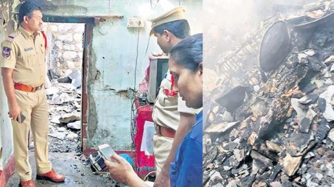 A man set ablaze his wife and her lover for being involved in an extra-marital relationship. - Sakshi Post