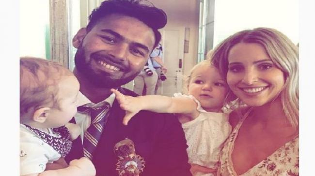 Safe Pair Of Hands: When 'Baby Sitter' Pant Took Paine's Son In His Lap - Sakshi Post