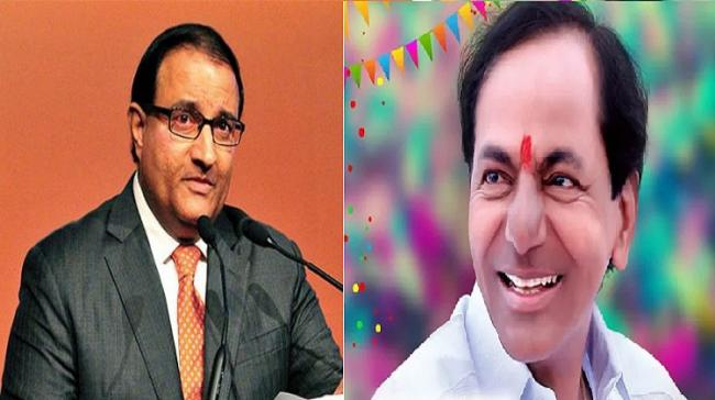 Singapore's Trade  Minister, S Iswaran and Chief Minister K Chandrasekhar Rao - Sakshi Post