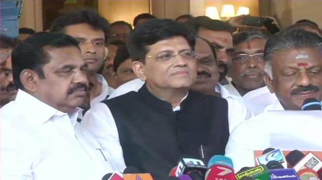 The announcement was made by AIADMK coordinator and deputy chief minister O Panneerselvam and Union Minister and senior BJP leader Piyush Goyal, party election in-charge for Tamil Nadu - Sakshi Post
