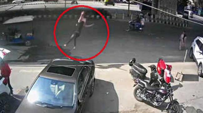 Pillion Rider Thrown Off Paradise Flyover After Accident - Sakshi Post