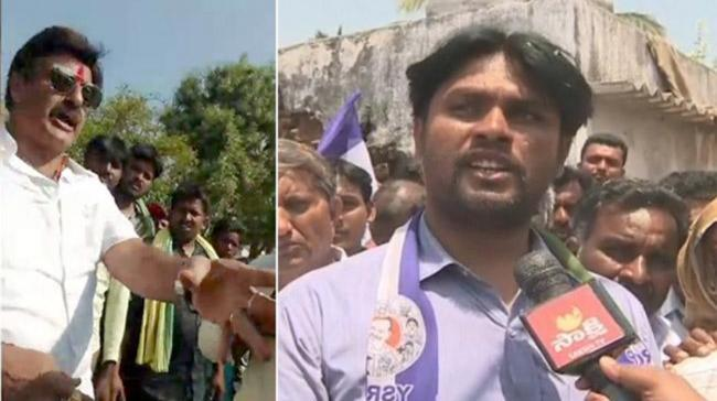 Actor turned politician Nandamuri Balakrishna bursts out in a fit of anger at a supporter - Sakshi Post
