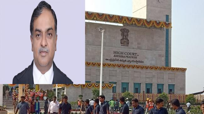 Inset:Justice Vikram Nath, First AP High Court Chief Justice - Sakshi Post