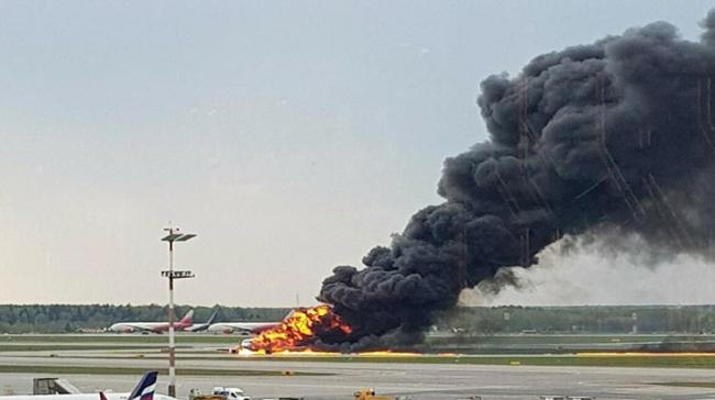 Russian passenger plane was engulfed in flames at Moscow's busiest airport - Sakshi Post