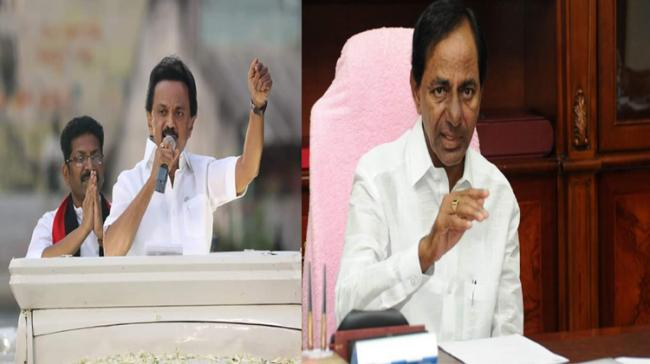 Dmk Party chief Stalin and TRS chief K Chandrasekar Rao - Sakshi Post