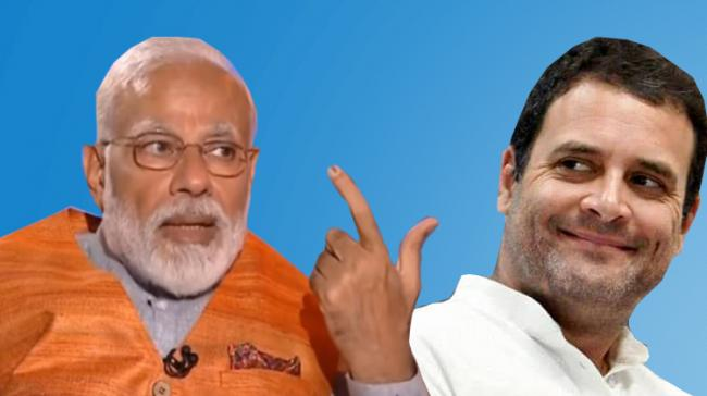 Narendra Modi And Rahul Gandhi - Sakshi Post
