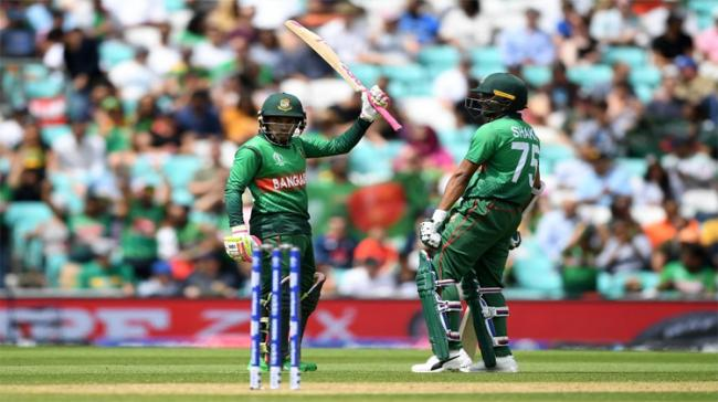 Bangladesh posted their highest one-day international score as ferocious hitting from Mushfiqur Rahim and Shakib Al Hasan took them to 330 for six against South Africa - Sakshi Post