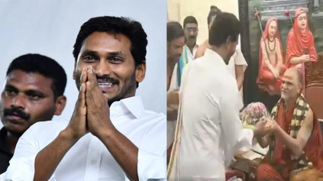 AP Chief Minister YS Jagan Mohan Reddy meets  Swamy Swaroopanandendra - Sakshi Post