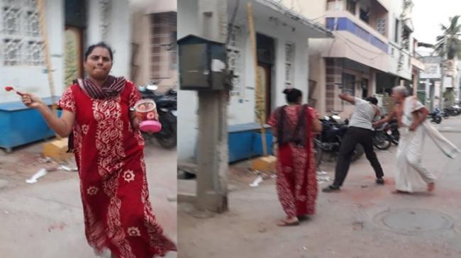 The woman attacked her father-in-law by throwing chilli powder into his eyes - Sakshi Post