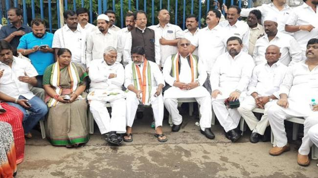 Congress Floor Leader in Assembly Mallu Bhatti Vikramarka began his 36-hour long fast at Indira Park on Saturday - Sakshi Post