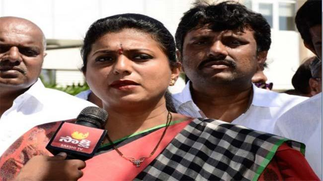Roja objected to Leader of the Opposition N Chandrababu Naidu not walking the Speaker to his chair along with other party floor leaders - Sakshi Post