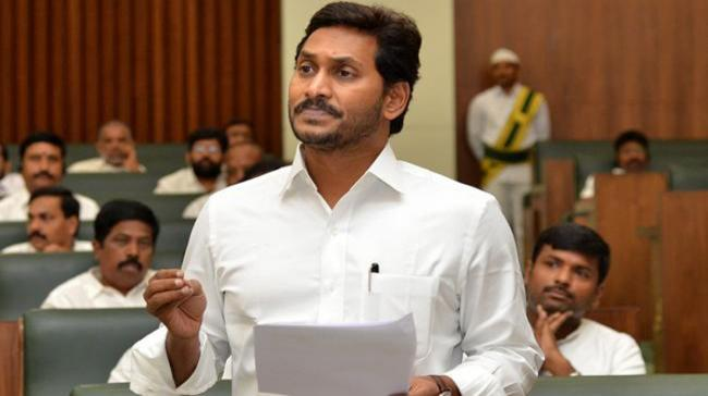 Chief Minister YS Jagan Mohan Reddy speaking in the Assembly on Thursday after the unanimous election of YSRCP legislator Tammineni Sitaram as Speaker - Sakshi Post