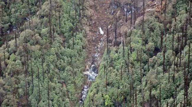 A search operation to retrieve the mortal remains of six of the 13 people who were killed in the AN-32 crash on June 3 - Sakshi Post