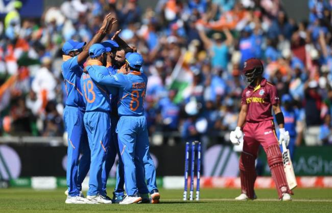 Mohammed Shami returned career-best figures of 4/16 as India underlined their bowling might by chalking a huge 125-run victory over the West Indies - Sakshi Post