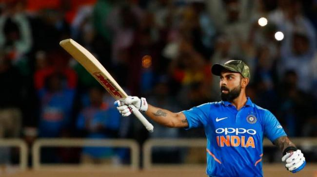 India skipper Virat Kohli will need to score 37 runs in order to become the fastest batsman to score 20,000 international runs - Sakshi Post