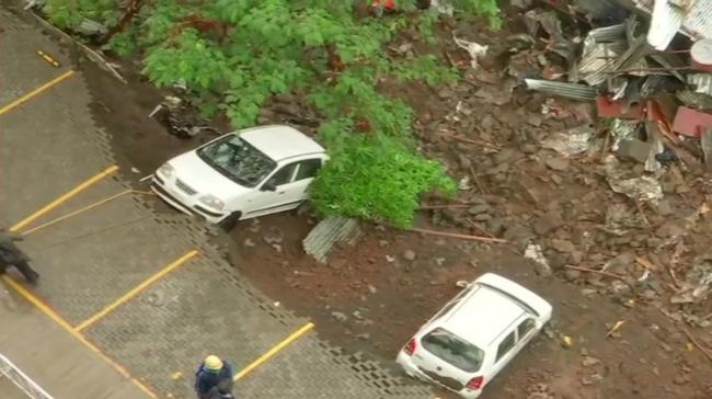 Site of wall collapse (Pic courtesy: ANI) - Sakshi Post