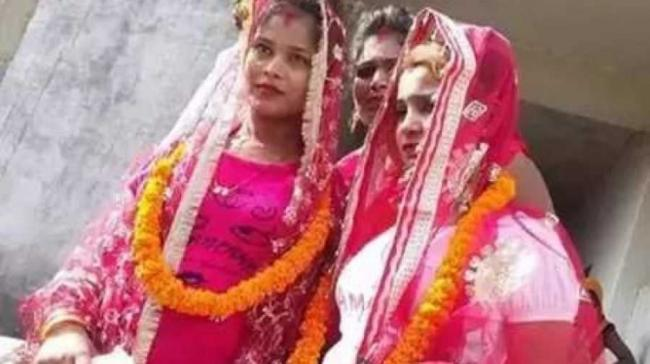 This is probably the first same-sex marriage in Varanasi (Pic courtesy: IANS) - Sakshi Post