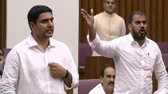 The Andhra Pradesh Legislative Council witnessed heated exchange of words between TDP MLC Nara Lokesh on one side with Ministers Anil Kumar Yadav - Sakshi Post