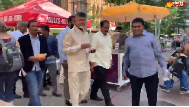 """A video of former chief minister of Andhra Pradesh, <a href=""""https://english.sakshi.com/topic/chandrababu%20naidu"""">Chandrababu Naidu </a>going about on the street of a US city is doing the rounds of socia - Sakshi Post"""