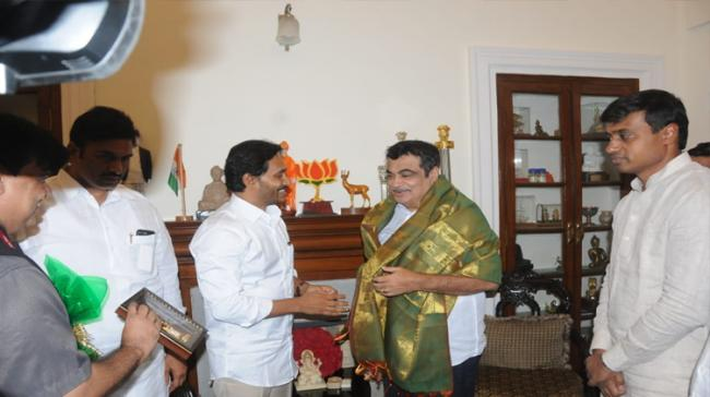 Chief Minister YS Jagan Mohan Reddy called on Surface Transport Minister Nitin Gadkari on Wednesday - Sakshi Post