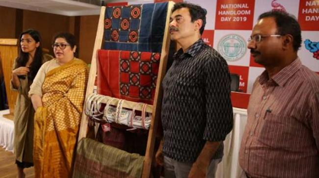 With a focus on revival of the Telia Rumal Ikat and the Mahadevpur Tussar silk saris in natural dyes - Sakshi Post
