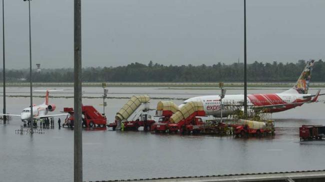 Kochi Airport Runway Flooded, All Flights Cancelled - Sakshi Post