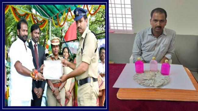 A cop in Mahabubnagar was caught red-handed by the Anti Corruption Bureau (ACB) while accepting a bribe - Sakshi Post