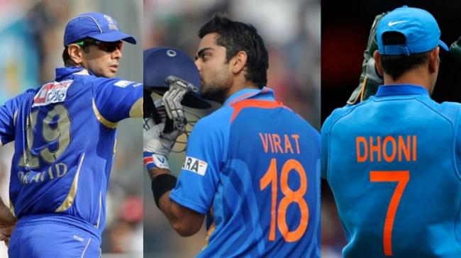 Cricketers with their jersey numbers - Sakshi Post